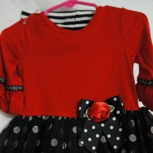 Bonnie Baby 2 Piece Red/Black Ruffle outfit
